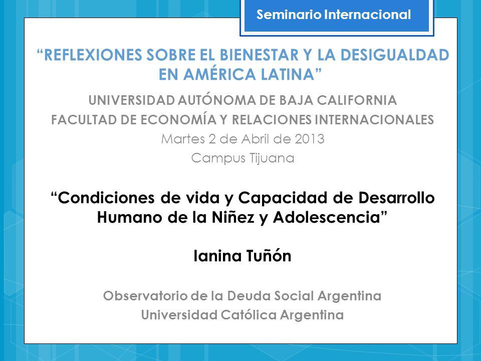 REFLEXIONES SOBRE EL BIENESTAR Y LA DESIGUALDAD EN AMÉRICA LATINA