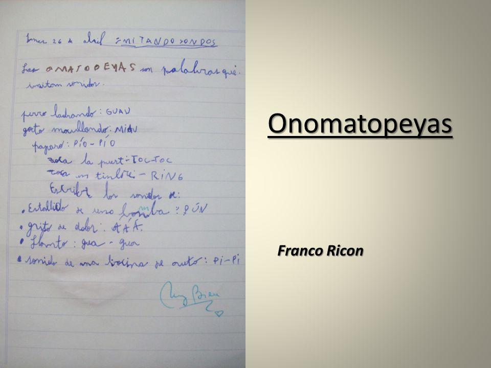 Onomatopeyas Franco Ricon