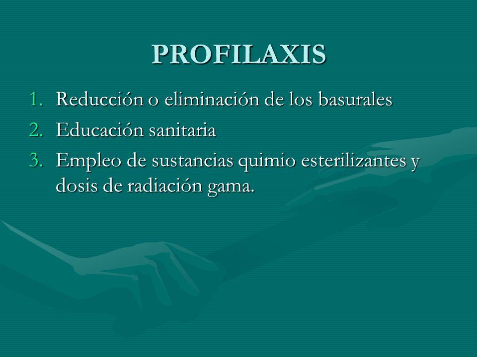 PROFILAXIS Reducción o eliminación de los basurales