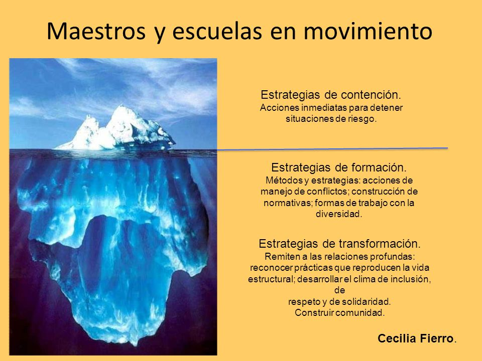 Maestros y escuelas en movimiento
