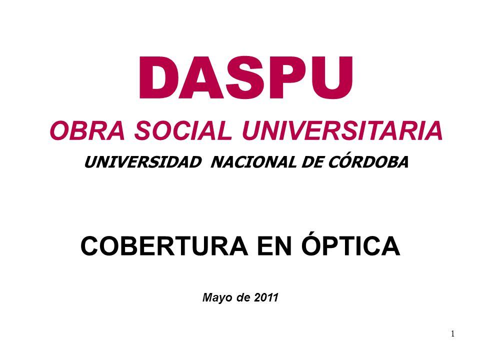 DASPU OBRA SOCIAL UNIVERSITARIA UNIVERSIDAD NACIONAL DE CÓRDOBA