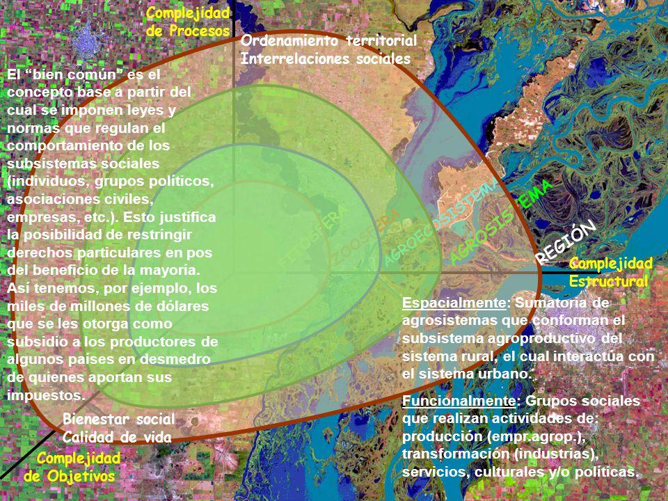 AGROSISTEMA REGIÓN Complejidad de Procesos