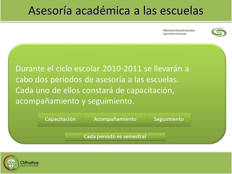 Asesoría académica a las escuelas