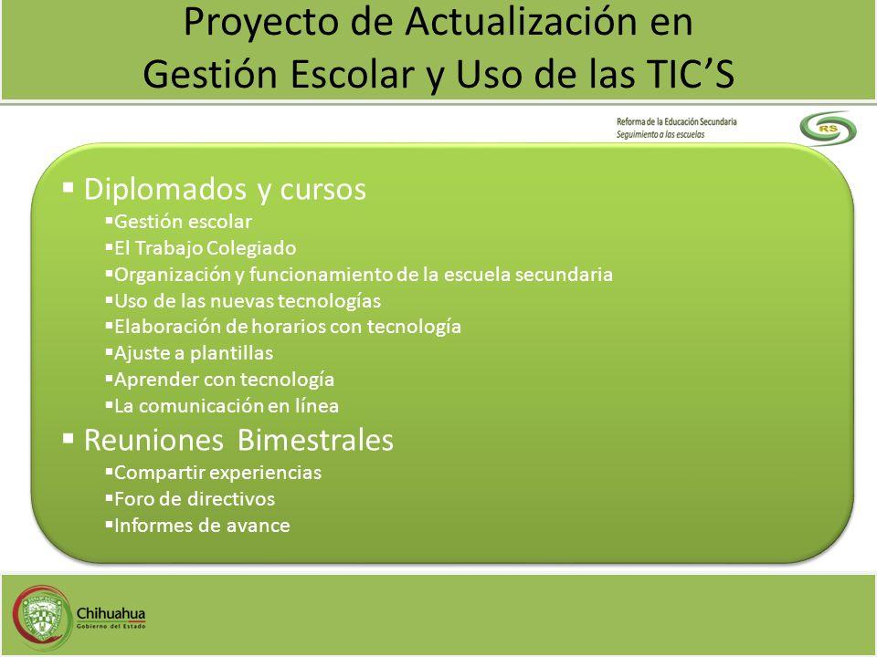 Proyecto de Actualización en Gestión Escolar y Uso de las TIC'S