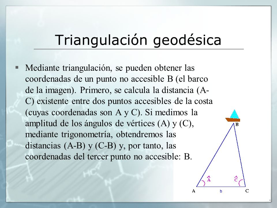 Triangulación geodésica