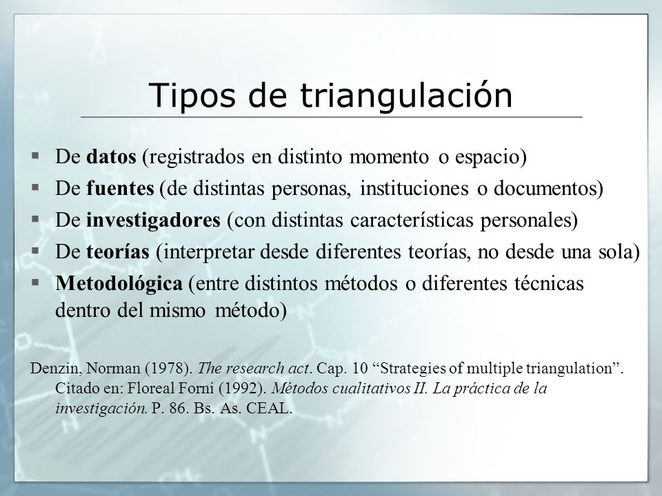 Tipos de triangulación