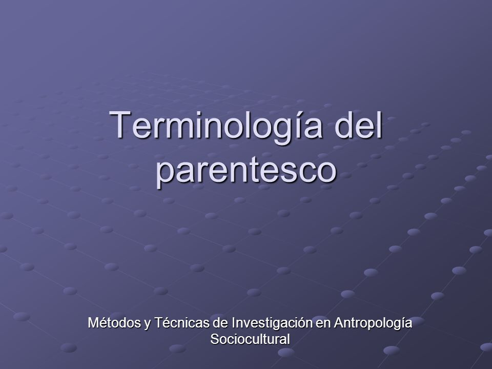 Terminología del parentesco