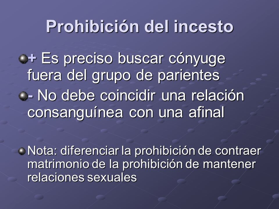 Prohibición del incesto