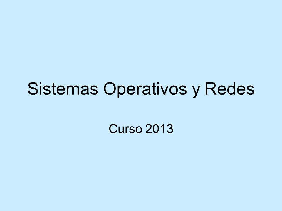 Sistemas Operativos y Redes