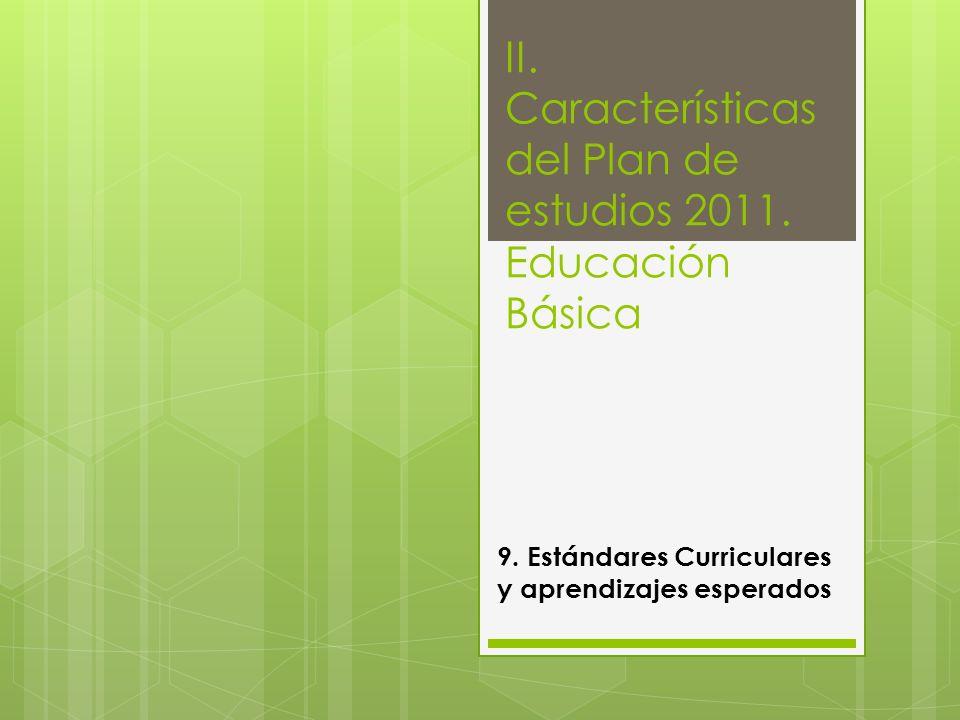 II. Características del Plan de estudios 2011. Educación Básica