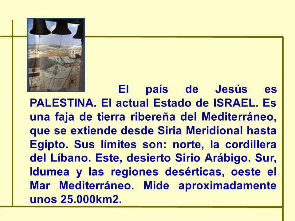 El país de Jesús es PALESTINA. El actual Estado de ISRAEL