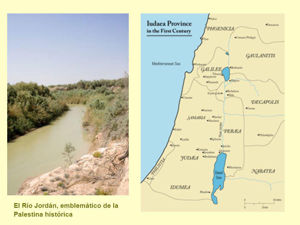 El Río Jordán, emblemático de la Palestina histórica