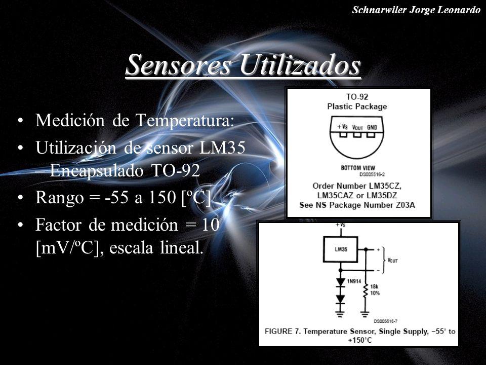 Sensores Utilizados Medición de Temperatura: