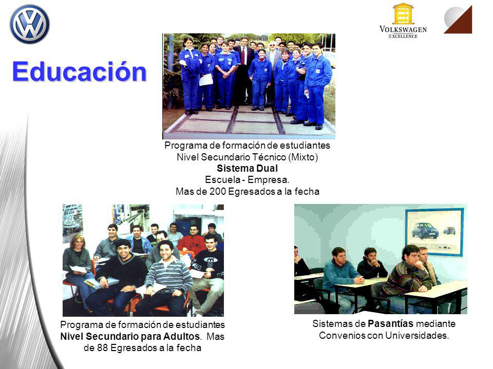 Programa de formación de estudiantes Nivel Secundario Técnico (Mixto)