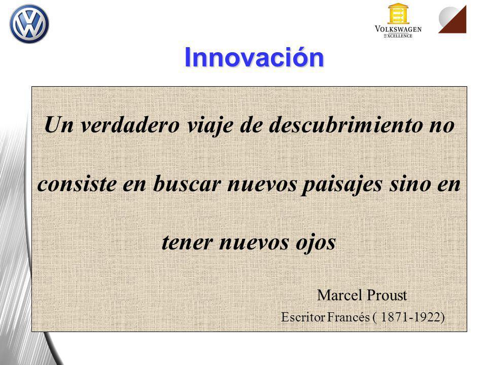 Innovación Un verdadero viaje de descubrimiento no consiste en buscar nuevos paisajes sino en tener nuevos ojos.