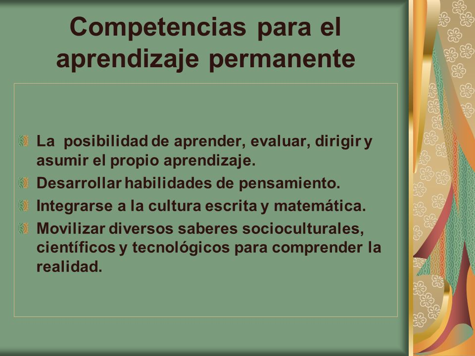 Competencias para el aprendizaje permanente