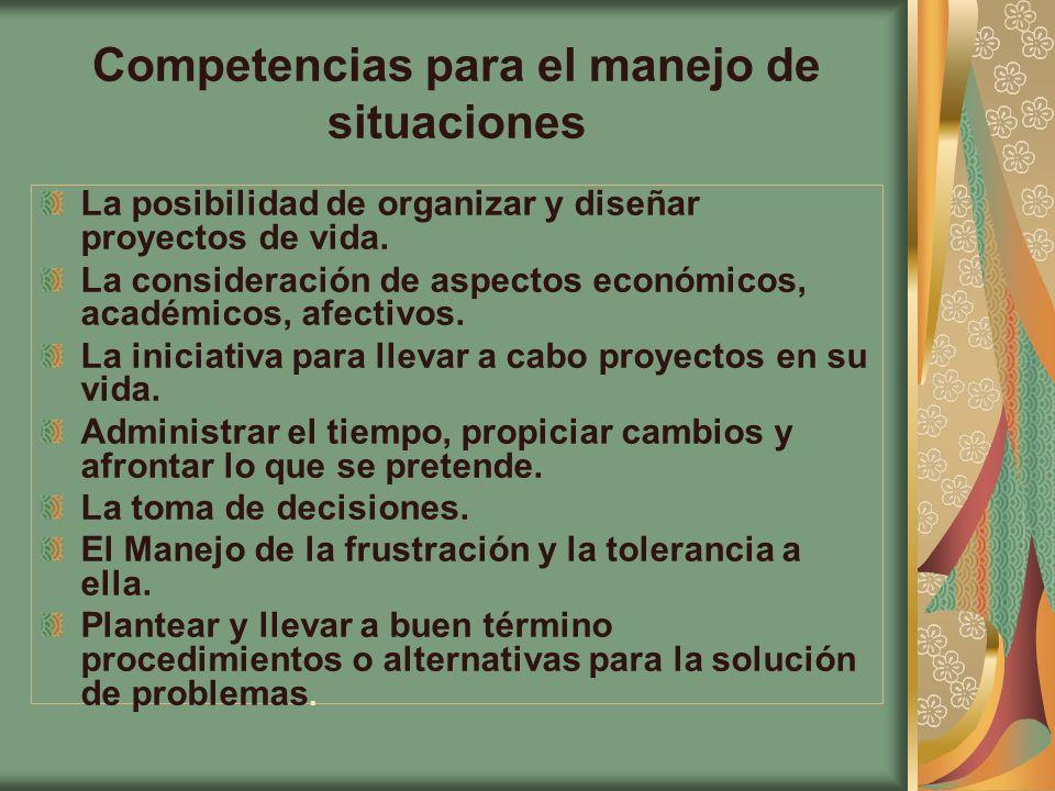 Competencias para el manejo de situaciones