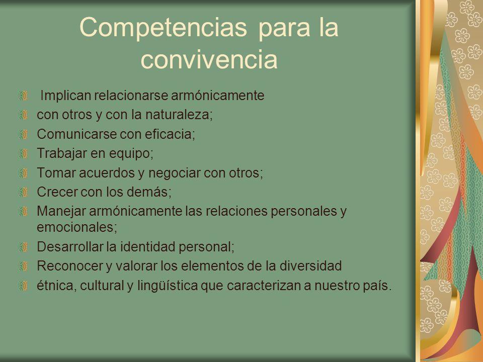 Competencias para la convivencia