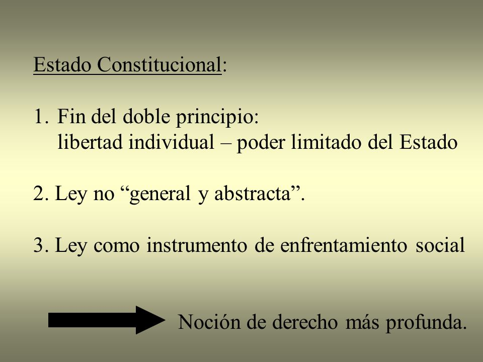 Estado Constitucional:
