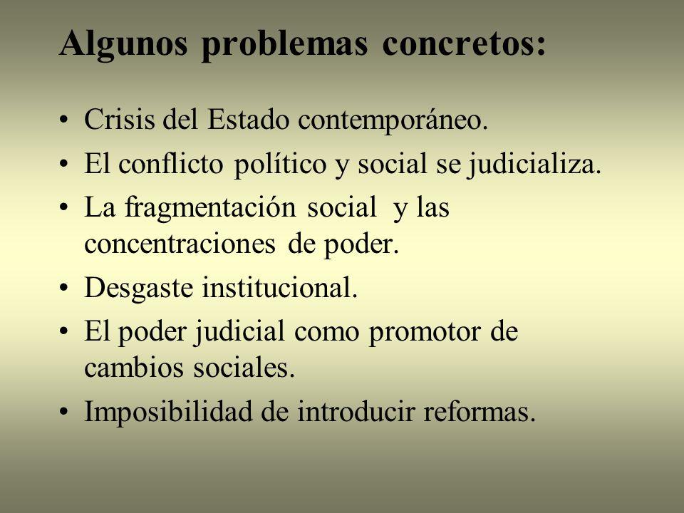 Algunos problemas concretos: