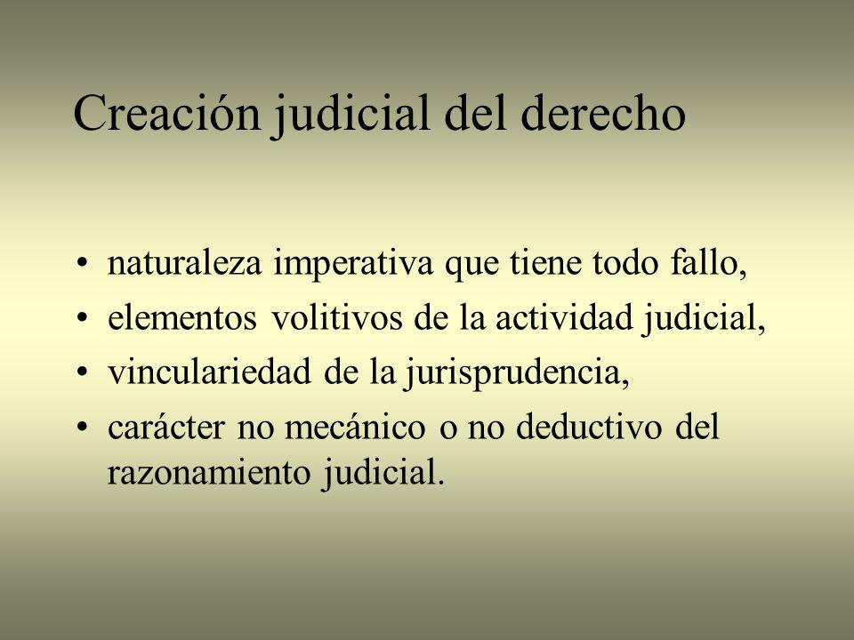 Creación judicial del derecho
