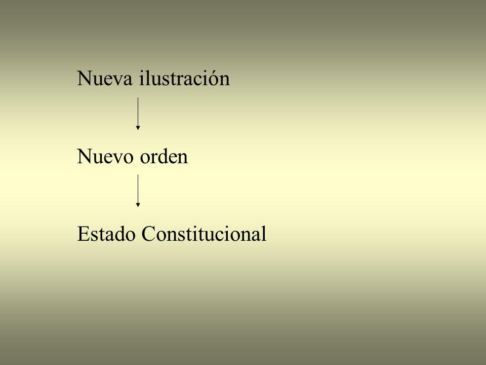 Nueva ilustración Nuevo orden Estado Constitucional