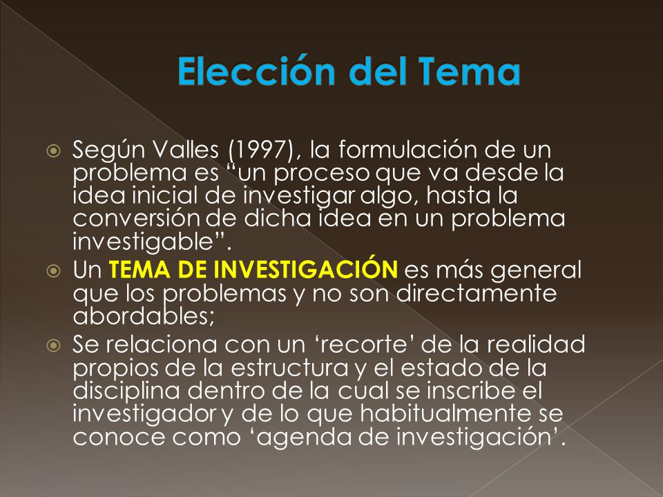 Elección del Tema