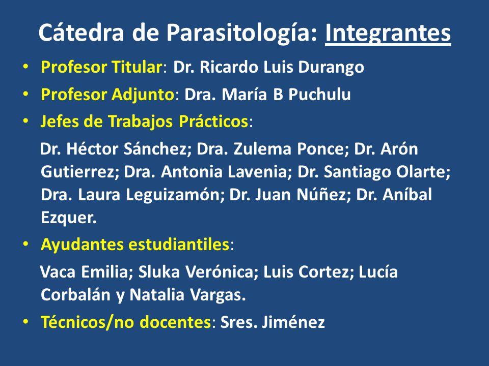 Cátedra de Parasitología: Integrantes