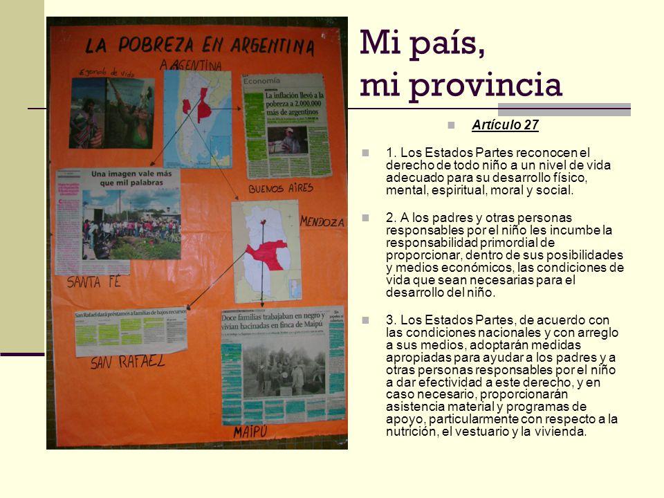 Mi país, mi provincia Artículo 27