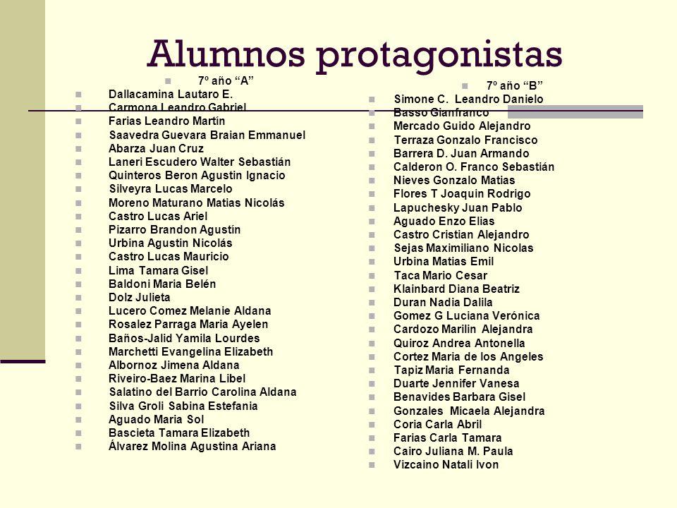 Alumnos protagonistas