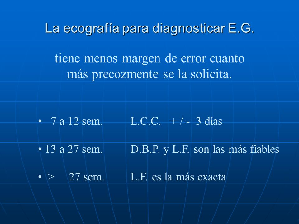 La ecografía para diagnosticar E.G.