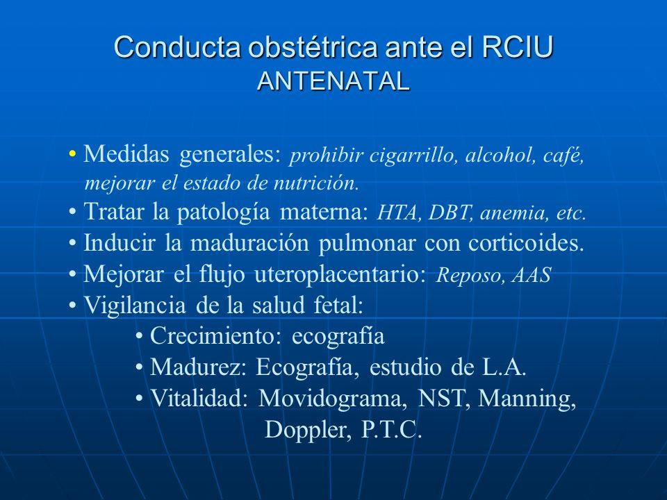 Conducta obstétrica ante el RCIU ANTENATAL