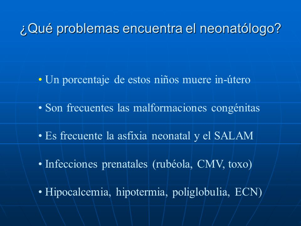 ¿Qué problemas encuentra el neonatólogo