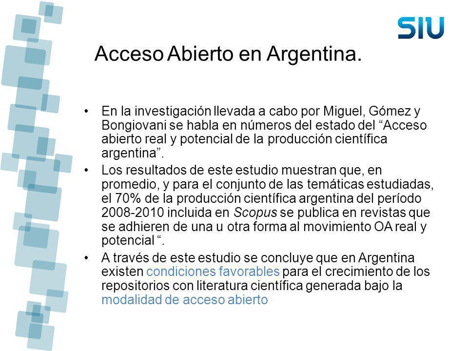Acceso Abierto en Argentina.