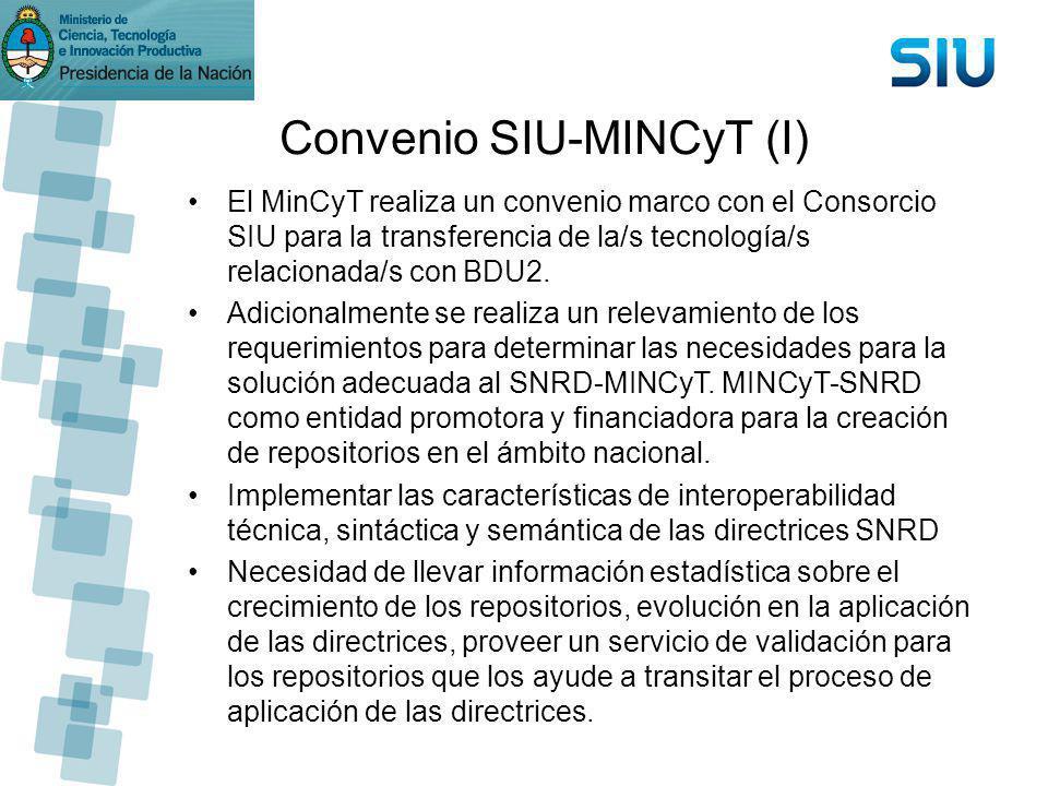 Convenio SIU-MINCyT (I)