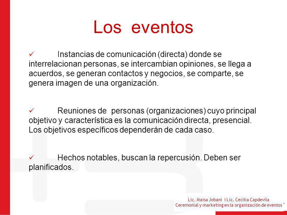 Los eventos