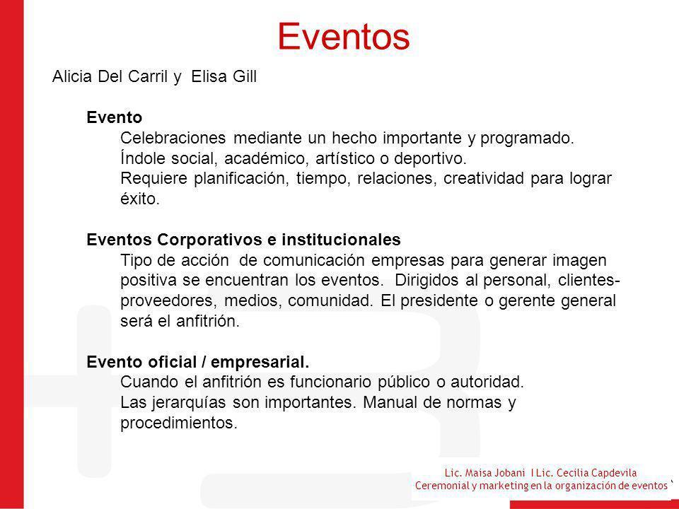Eventos Alicia Del Carril y Elisa Gill Evento