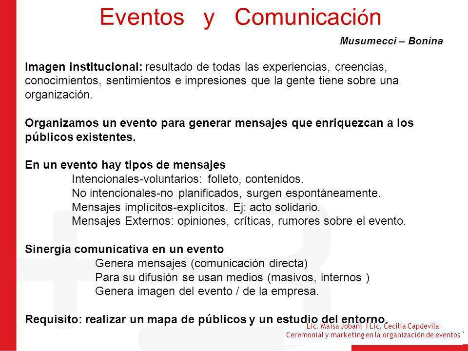 Eventos y Comunicación