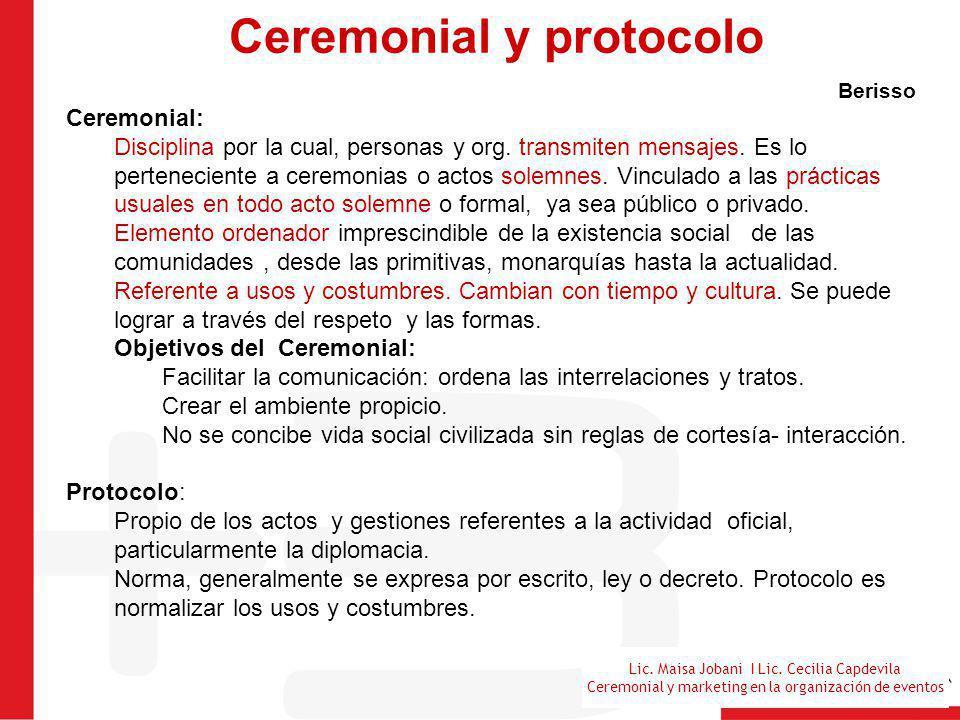 Ceremonial y protocolo