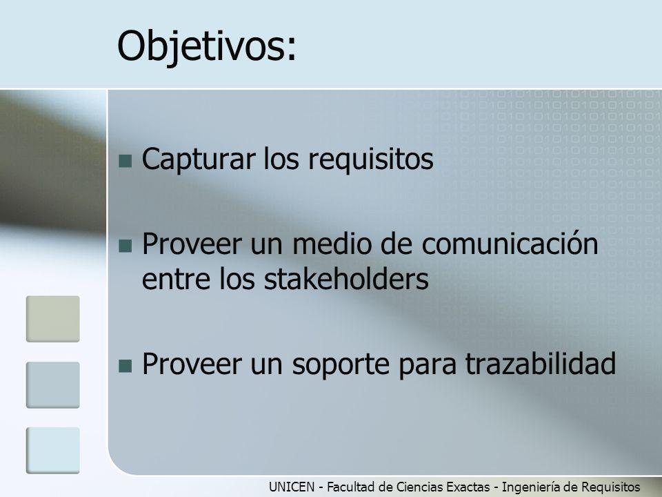 Objetivos: Capturar los requisitos