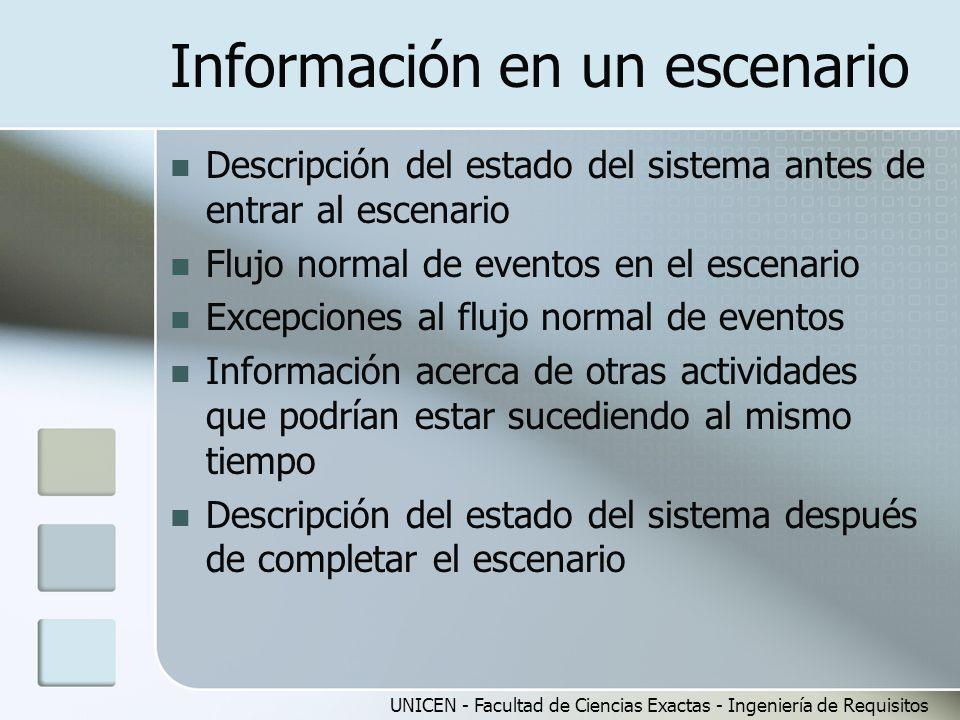 Información en un escenario
