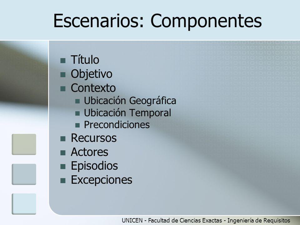 Escenarios: Componentes
