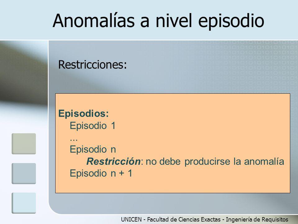 Anomalías a nivel episodio