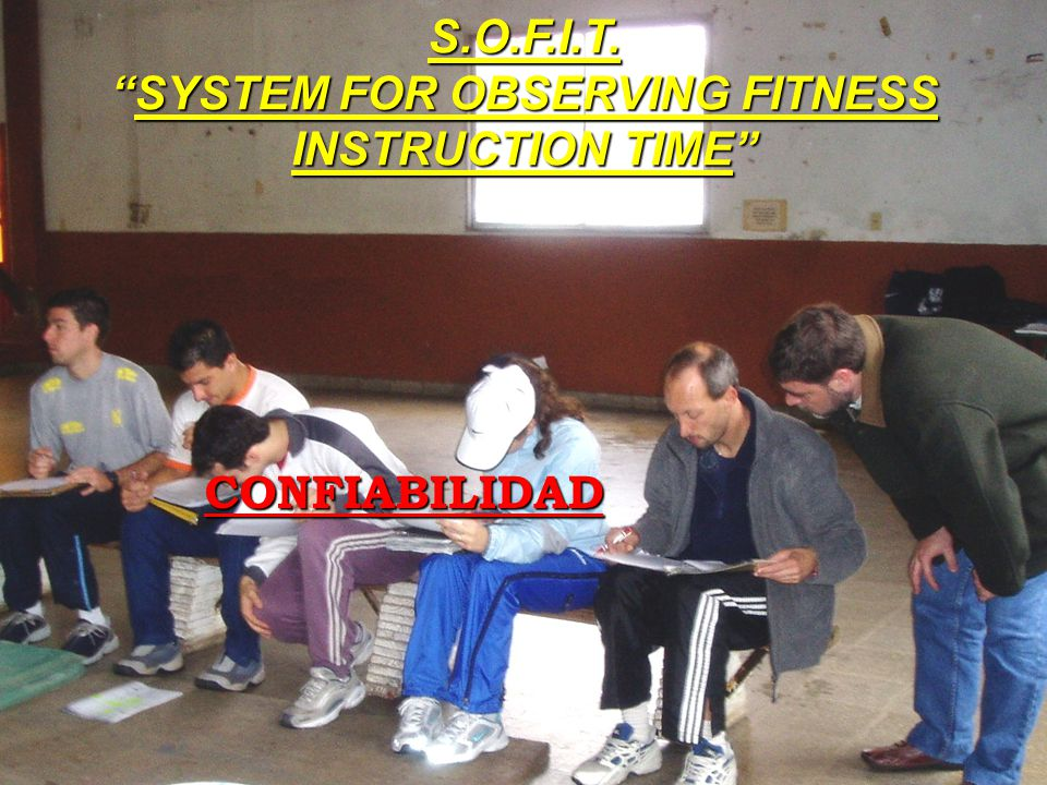 S.O.F.I.T. SYSTEM FOR OBSERVING FITNESS INSTRUCTION TIME