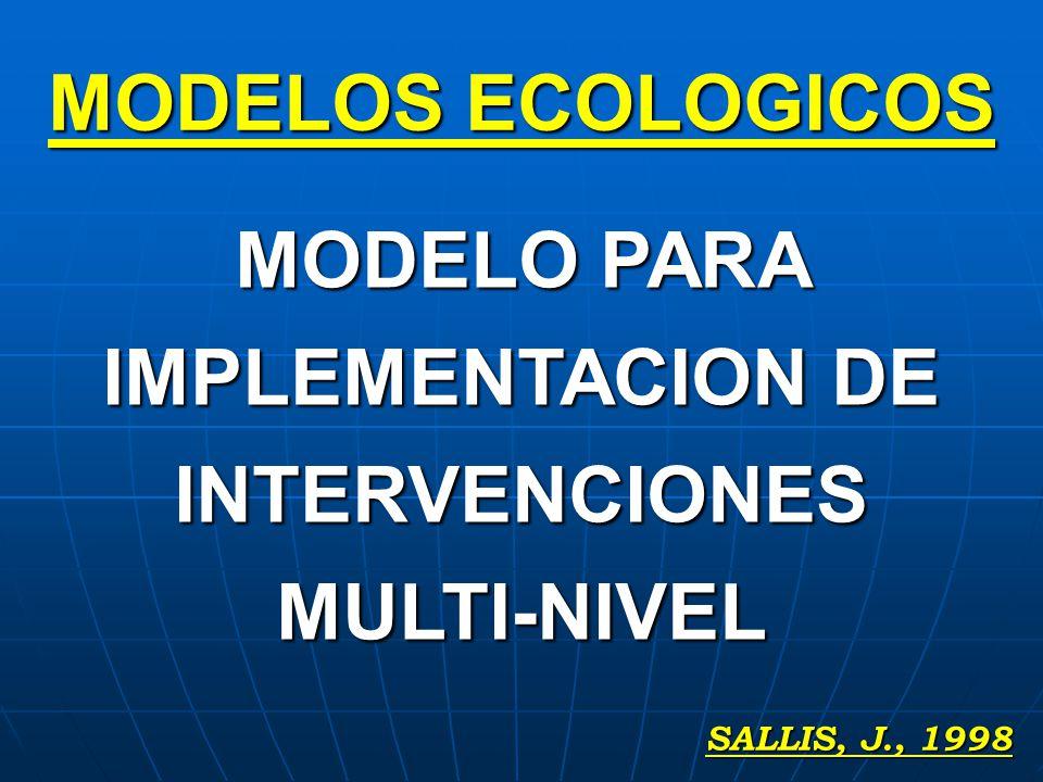 MODELO PARA IMPLEMENTACION DE INTERVENCIONES MULTI-NIVEL