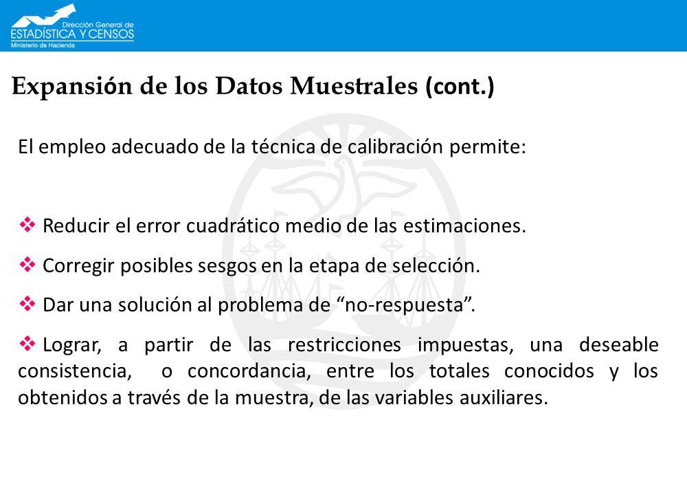 Expansión de los Datos Muestrales (cont.)