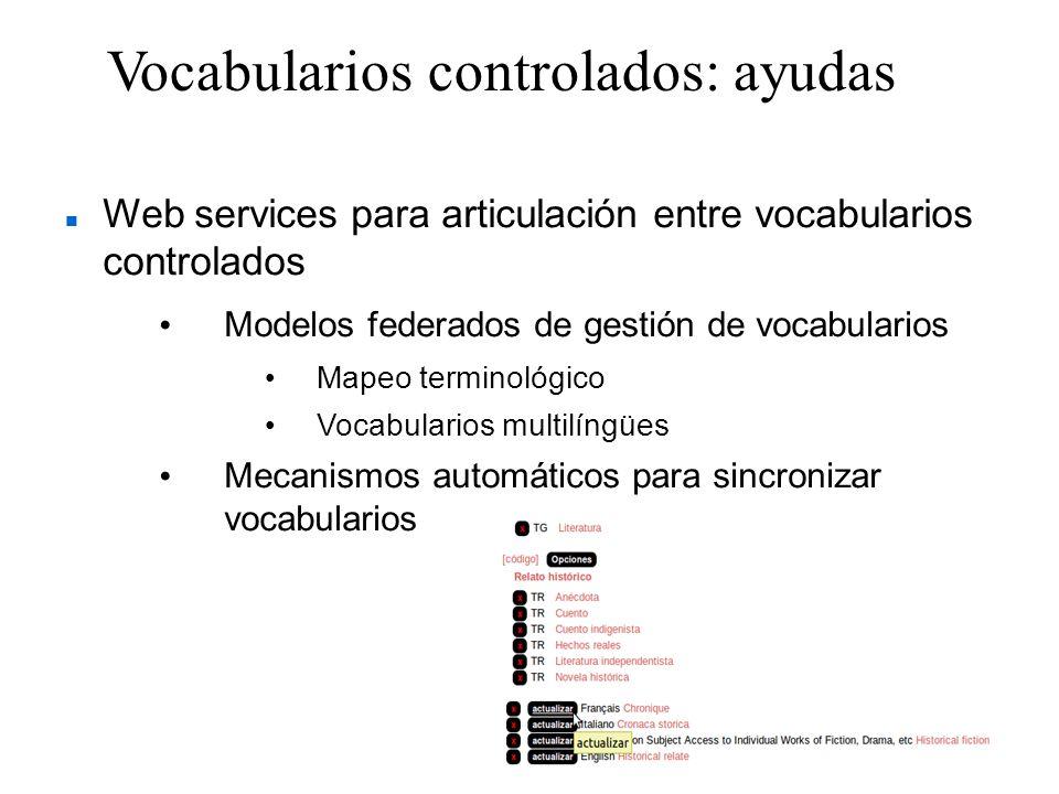 Vocabularios controlados: ayudas