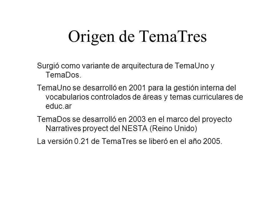 Origen de TemaTres Surgió como variante de arquitectura de TemaUno y TemaDos.