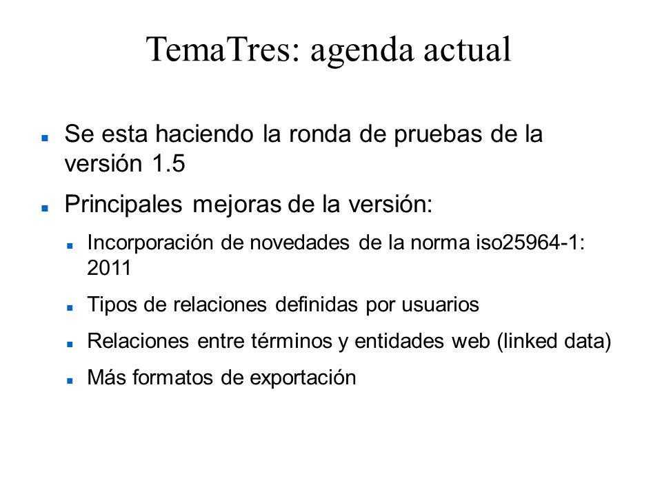 TemaTres: agenda actual