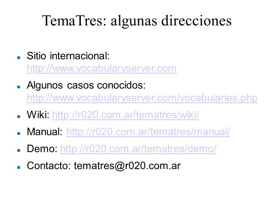 TemaTres: algunas direcciones